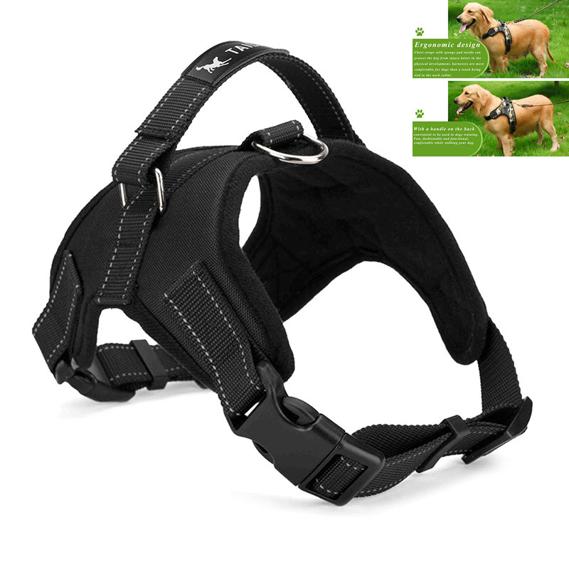 Large Dog Harness Padded Chest Strap Heavy Duty with Handle Comfortable for Labrador Golden Retriever Samoyed Husky Dogs(China (Mainland))