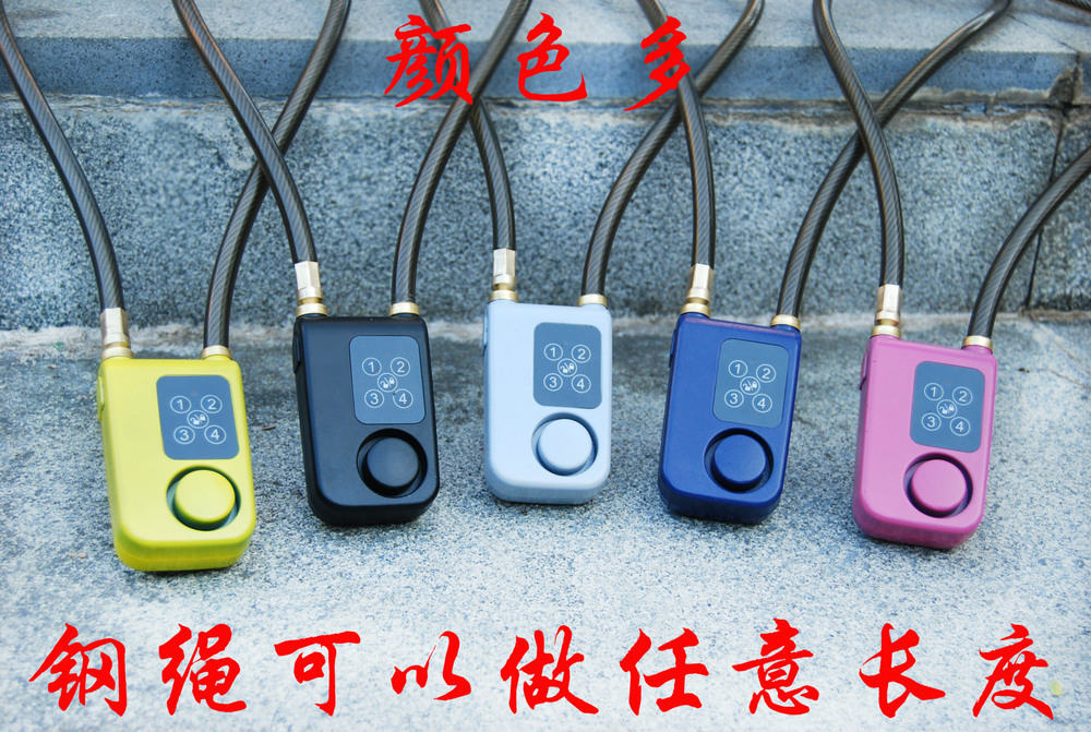 1234 password lock bike locks Store home alarm alarm lock 256 sets of passwords can be changed at any time(China (Mainland))