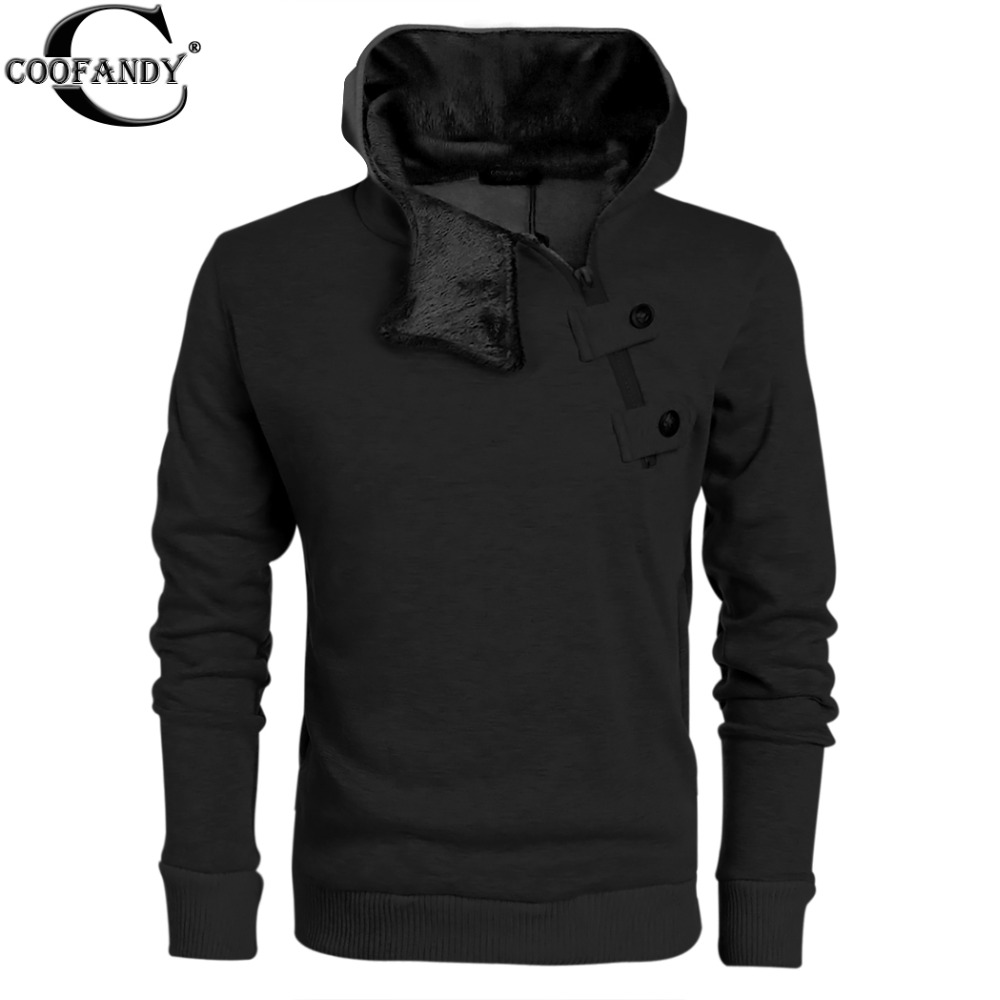 COOFANDY Mens Casual Luxury Buckle Hoodie Slim Cotton Sweatshirts Side Half Zip Casual Sports Hoodies Coat Jacket With Fleece EWОдежда и ак�е��уары<br><br><br>Aliexpress