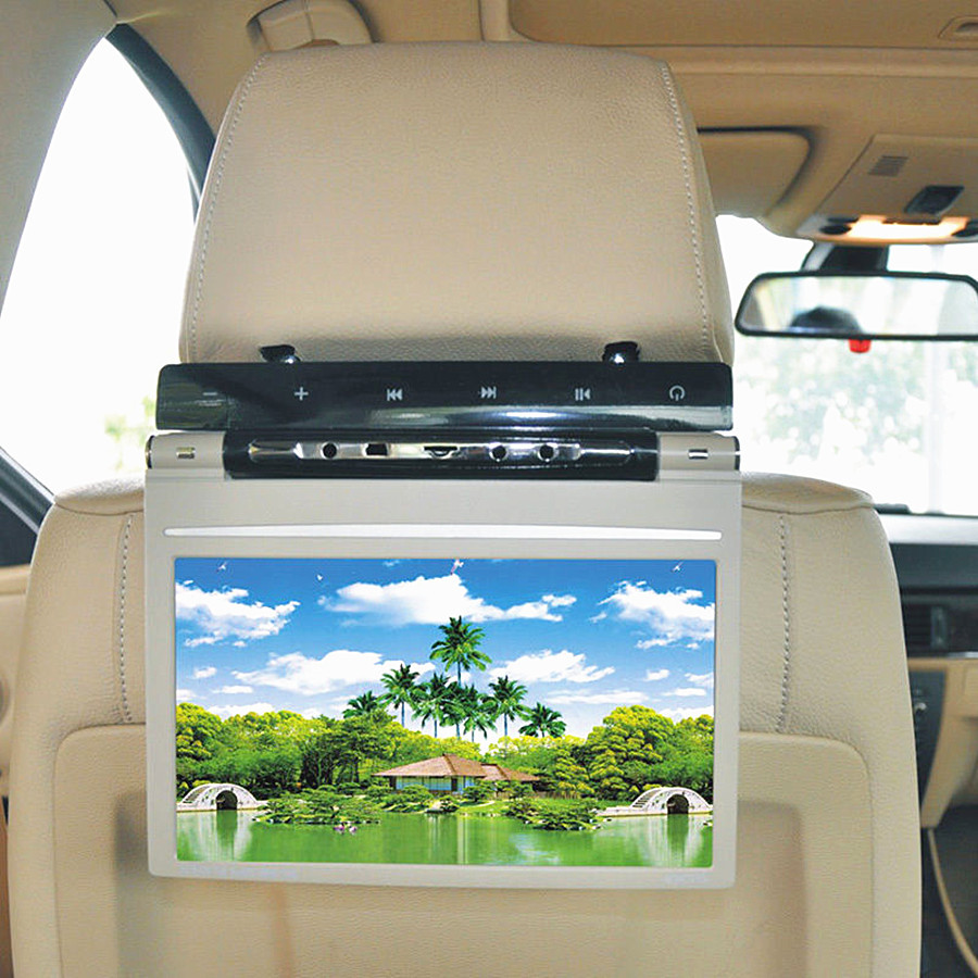 9 inch Touch key Car Auto DVD Player Headrest Monitors  800x480 32bit Game car dvd video player IR FM game speaker USB SD