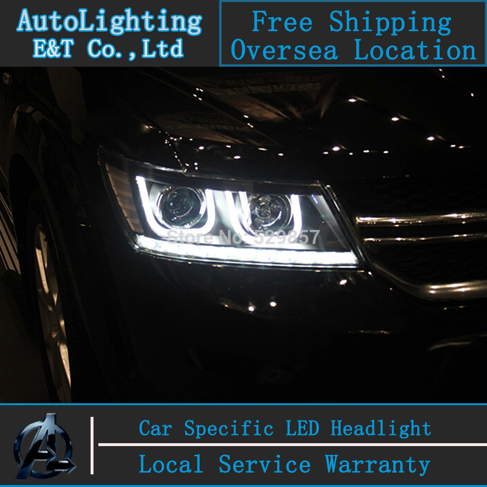 Car Styling FREEMONT LED Head Lamp for FIAT FREEMONT 2009-2014 LED Headlight angel eye headlight BI XENON front accesspories<br><br>Aliexpress