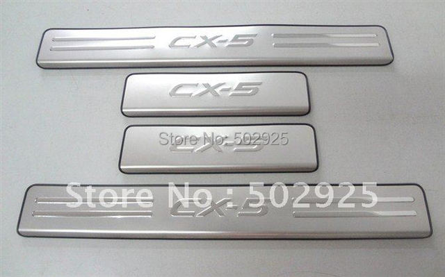 Mazda CX 5 Stainless Steel Scuff Plate / Door Sill  high quality(EMS USP DHL) Free shipping CPAM
