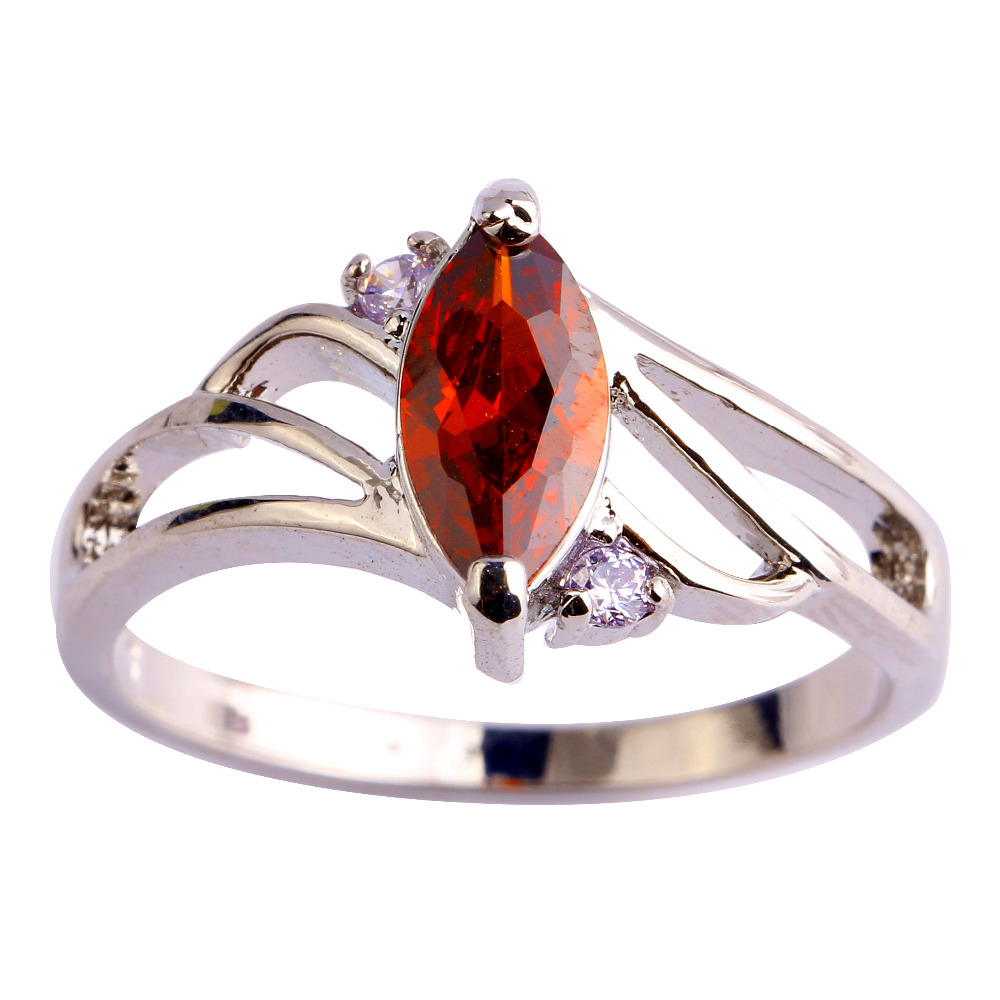 Fashion Marquise Cut Garnet Amethyst Silver Ring Size 6 7 8 9 10 Women Nice Jewelry Party - WEILING Co.,Ltd 2014 store