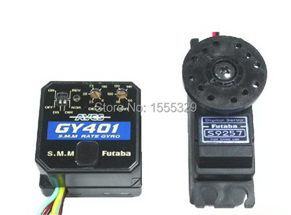 100% Orginal Futaba GY401 Gyro and Futaba S9254 Heli Digital High Torque/Speed Servo For 450 500 Class RC Helicopter(China (Mainland))