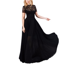 Buy Women Long Sexy Lace Evening Party Ball Prom Gown Formal Dresses Maxi Dress New Arrival S1 for $10.38 in AliExpress store