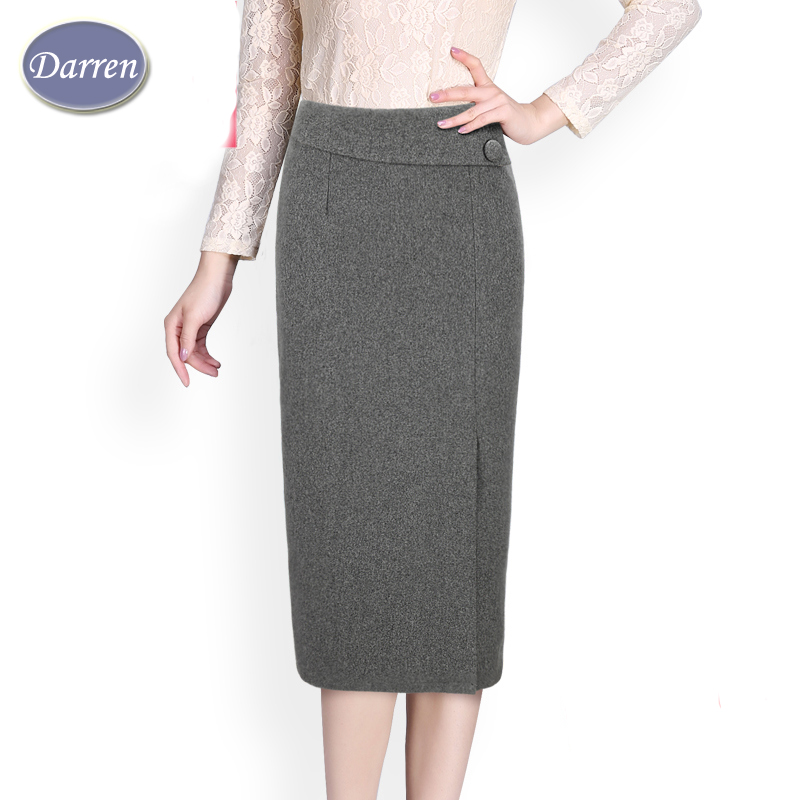 fashion autumn and winter pencil skirt s mid calf