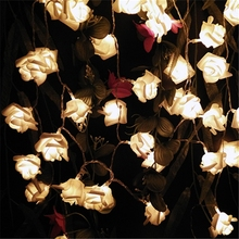 2016 Multicolor Decor.  Wedding Rose LED String Lights Battery for Party Event Christmas Birthday Decoration Lightings Casamento(China (Mainland))
