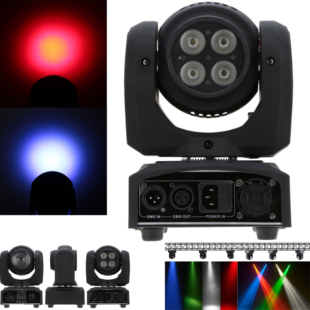 50W Beam Wash Double Sides RGBW LED Stage Effect Light 15/21 Channel DMX 512 US Plug Rotating Moving Head for Indoor Disco Party(China (Mainland))