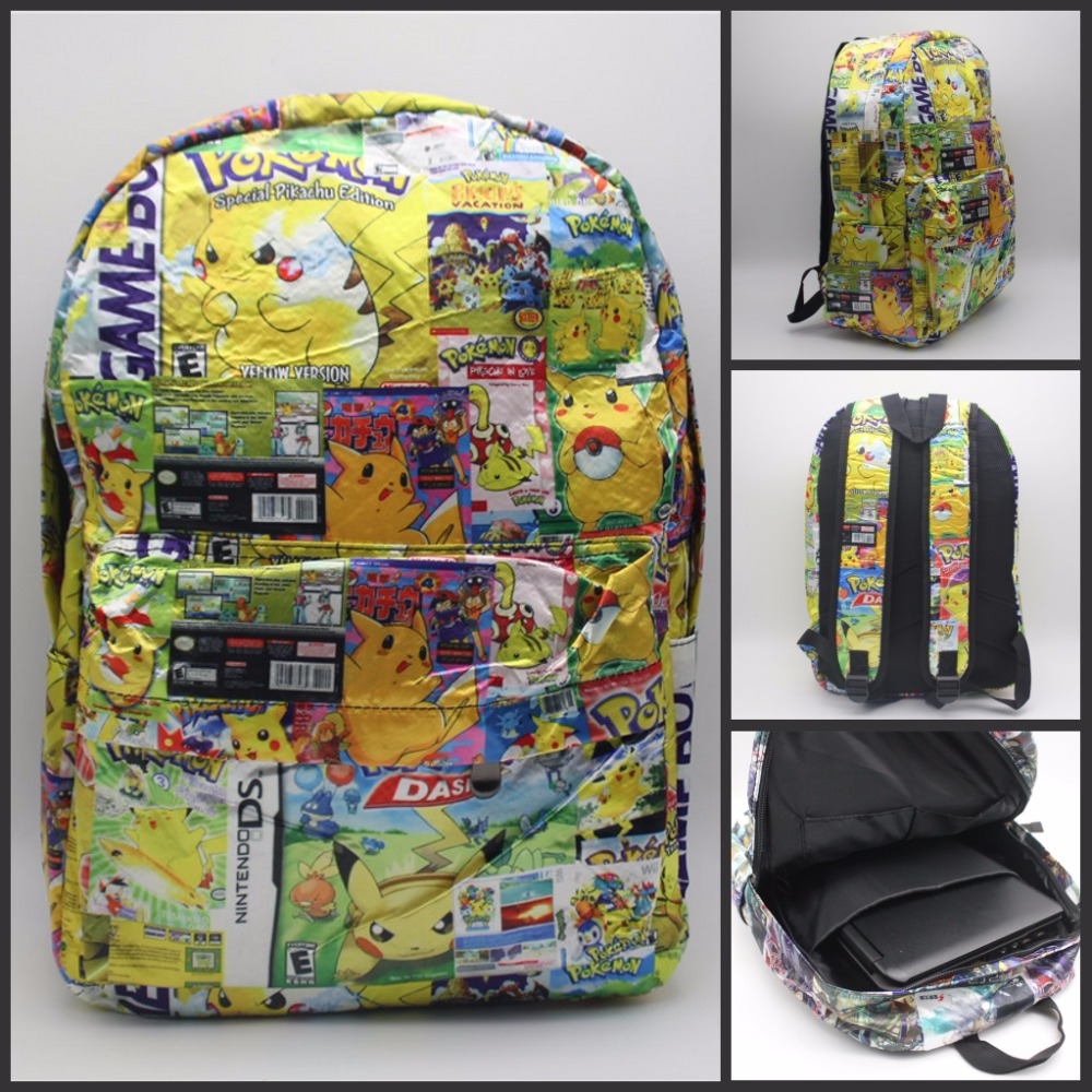 font b Pokemon b font font b GO b font Pocket Monste Pikachu Backpack cosplay