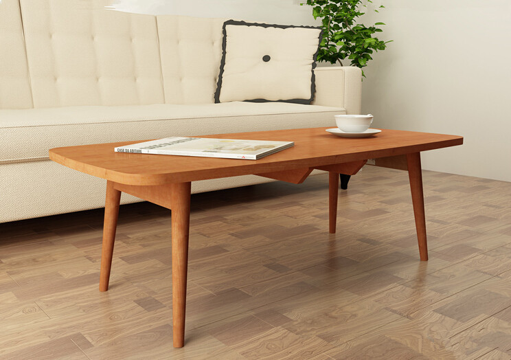 Living Room Console Furniture Coffee Table Folding Legs 4 Colors Side Table for Sofa Tea Modern Japanese Low Wood Table Design(China (Mainland))