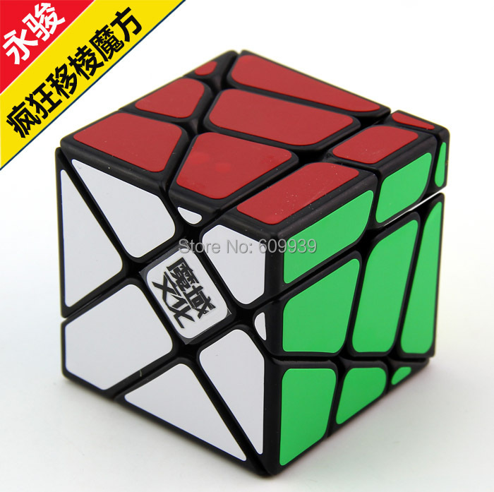 Whoesale 16pcs/lotMoYu crazy Fisher cube black or white Puzzles(China (Mainland))