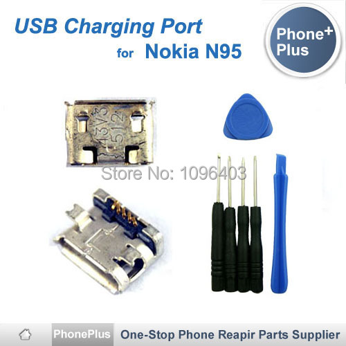 For Nokia N95 USB Charge Charging Dock Port Plug Connector Jack Replacement With Tools Free Shipping(China (Mainland))