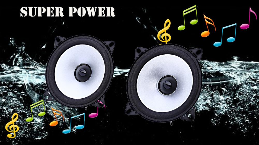 LB - PS1401D 2 X 4'' inch Vehicle Loudspeaker Automobile Automotive Car HiFi Full Range Bubble Gum Edge Speaker Easy to Install