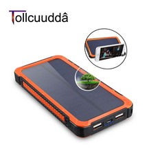 Buy Tollcuudda Solar Power Bank 10000mAh LED Light Pover Bank External Battery Powerbank Portable Charger Xiaomi Iphone for $24.74 in AliExpress store