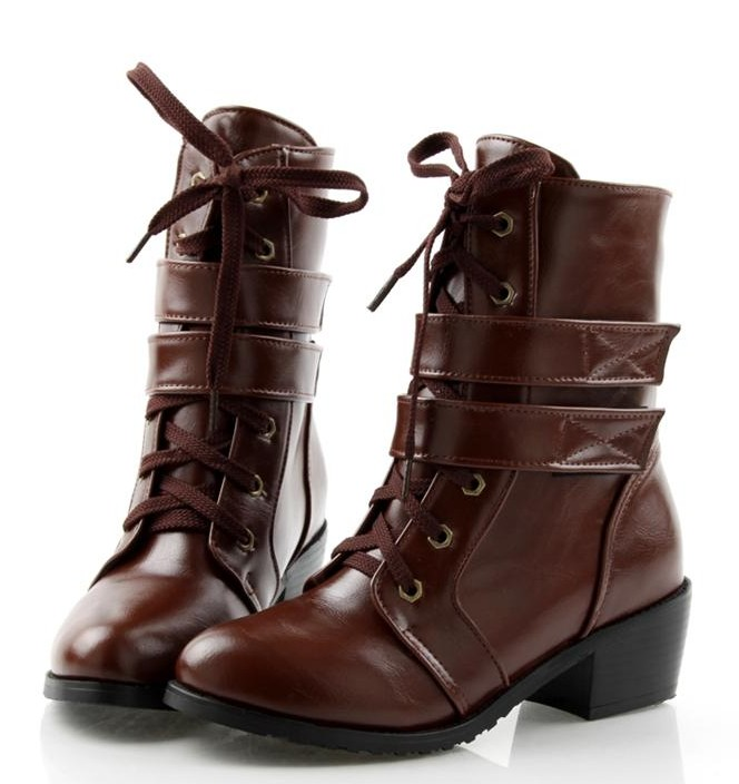 new 2014 fashion motorcycle boots martin shoes coffee(China (Mainland))