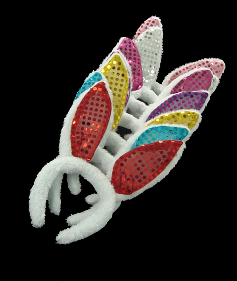 The Easter Bunny Show Small Plush Bunny Ears Headdress Sequin Headband Cosplay Props(China (Mainland))