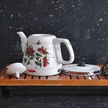 Supply Jingdezhen Ceramic Smart Kettle Coffee teapot kettle flowers 18002 #