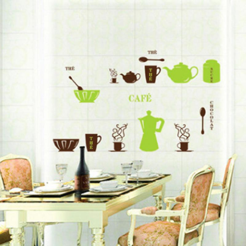 New Creative DIY Kitchen Tools Home Removable Decal Wall Stickers Vinyl Kitch