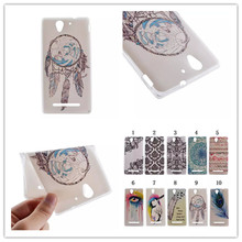 Fashion Cool Ultrathin Coloured Drawing Design TPU Soft Phones Case Cover For Sony Xperia C3 Soft Case Mobile Phone Accessories