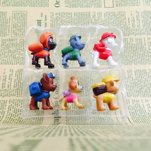 ATOY 6pcs/lot Patrol Dog Anime Toys Action Figure Movie Juguetes Brinquedos Cute Puppy Toys set For Child Gift For Children
