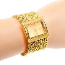 Classic Luxury Quartz Watch Women's Gold Diamond Case Alloy Band Bracelet Watch New Design 5DC9 6YLN W2E8D
