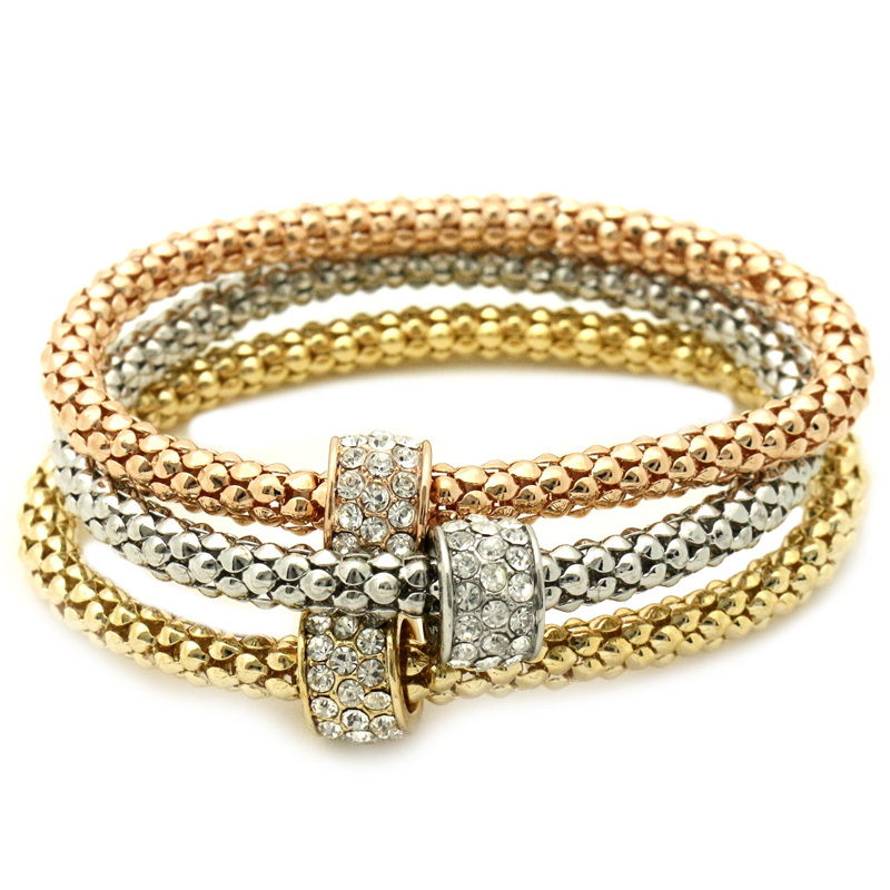 GUST Brand Jewelry Simple Bead Crystal Vintage Elastic Strand Bracelets Bangles Women Girl Dress Party Clothes Accessories B42(China (Mainland))
