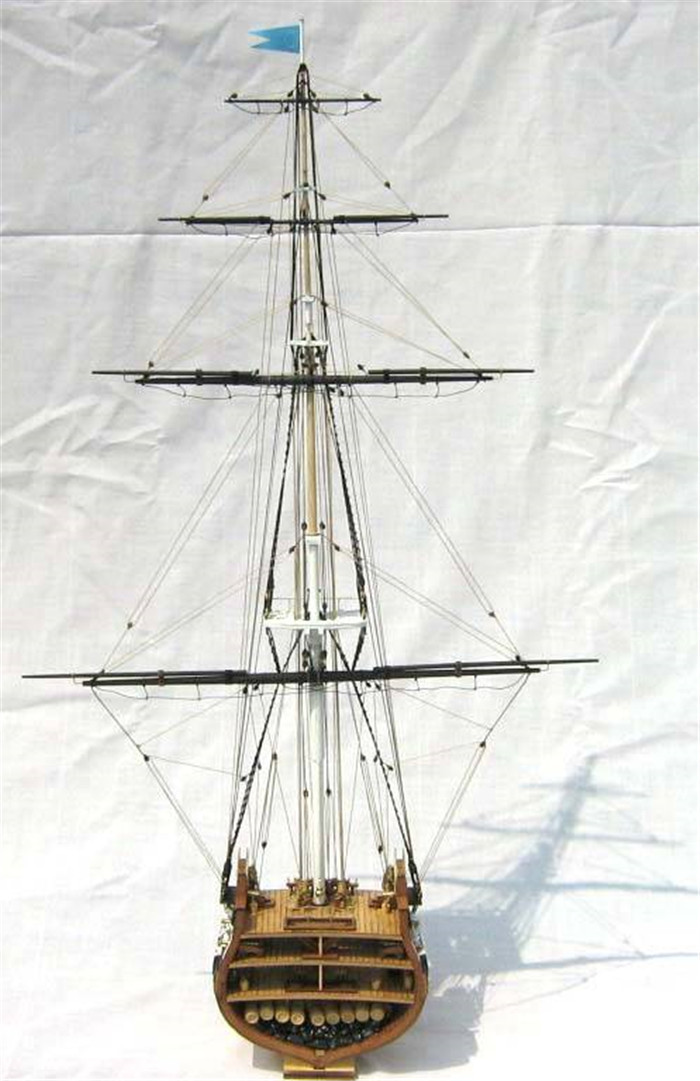 Classics sailboat model USS.Constitution (section) 1794 wooden ship model(China (Mainland))