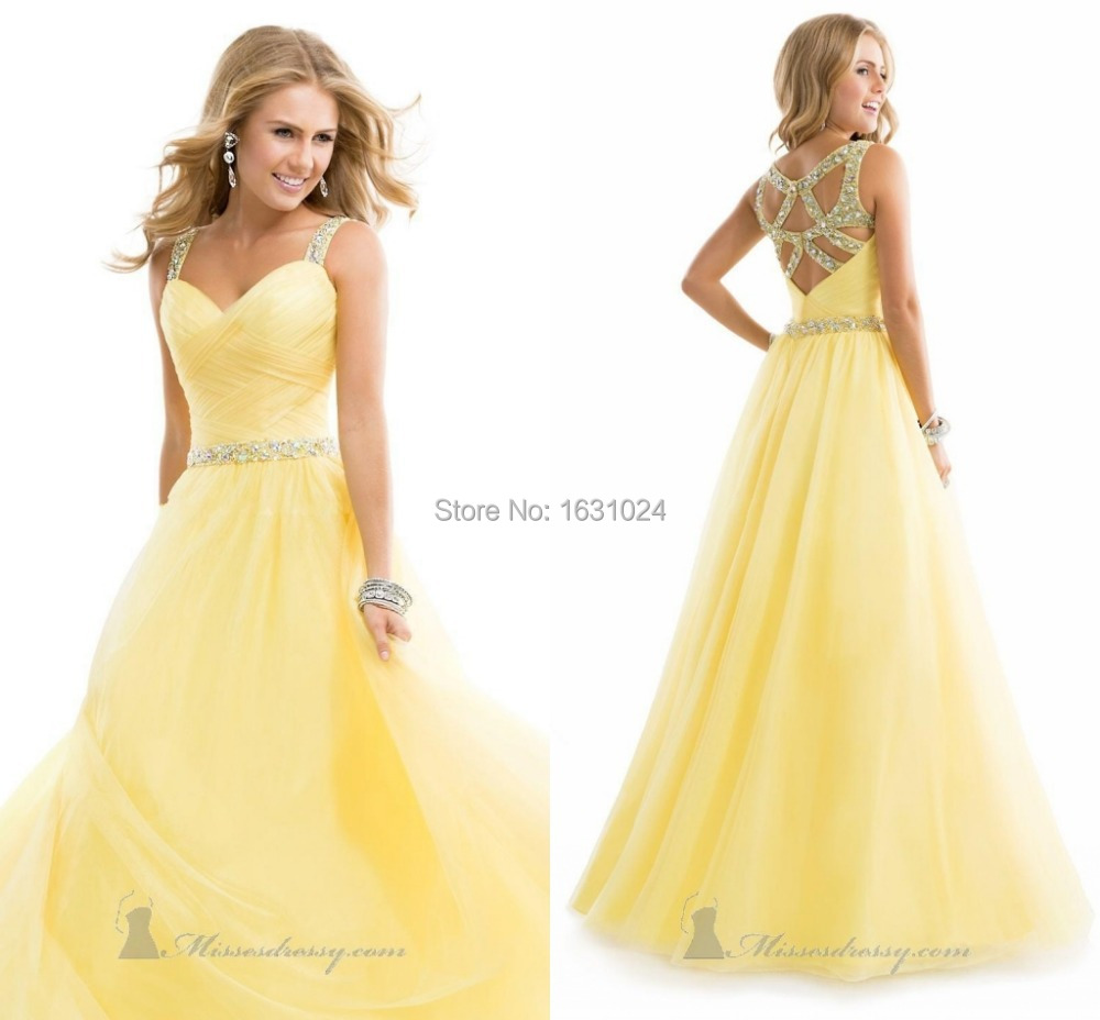 Yellow Prom Dresses Cheap 32