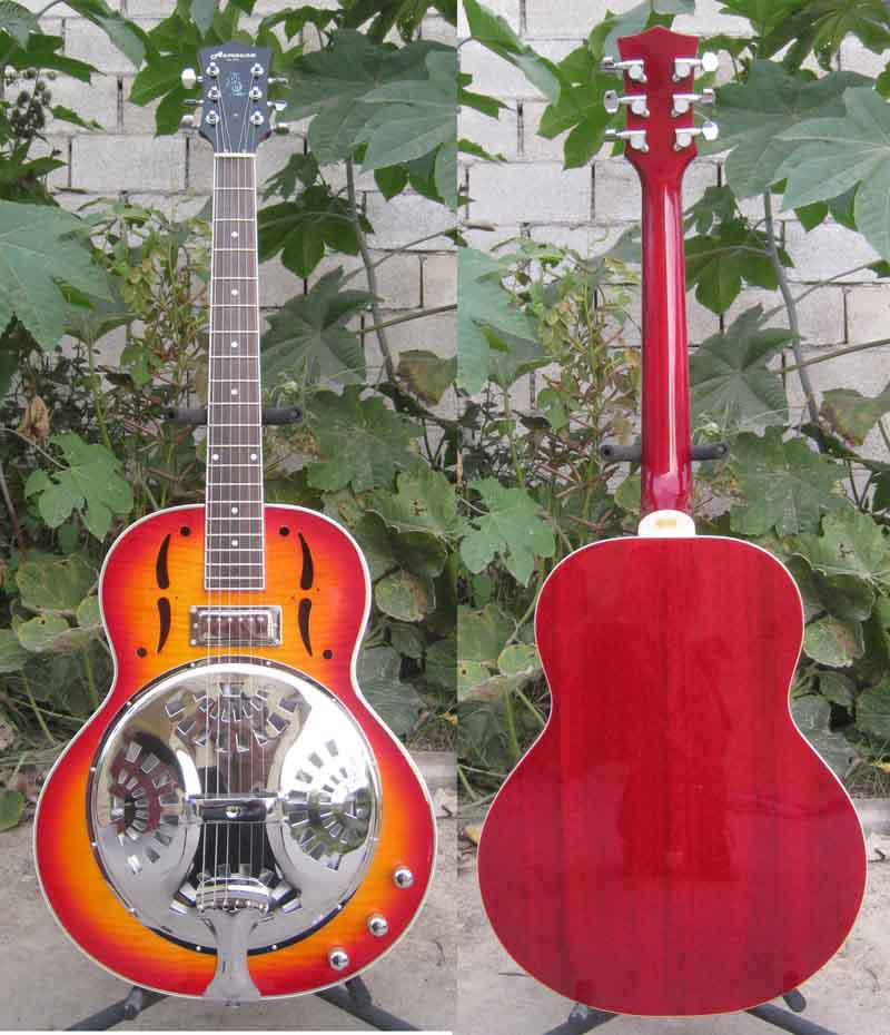 EMS Shipping Acoustic Resonator Guitar with Case Musical instruments Factory supply<br><br>Aliexpress