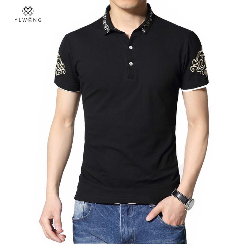 High quality polo men brand embroidery design polo homme for Polo brand polo shirts
