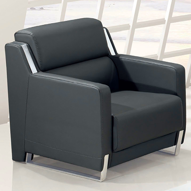 Modern stylish leather sofa minimalist reception parlor for Stylish modern furniture