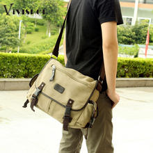 High Quality Men Messenger Bags Canvas Vintage Crossbody Satchel Shoulder Men's School Book Bag Casual-bag Bolsa(China (Mainland))