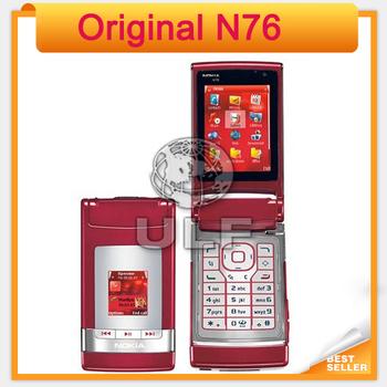 Original N76 Nokia Mobile Phone  Free shipping Nokia Flip phone with Russian Keyboard