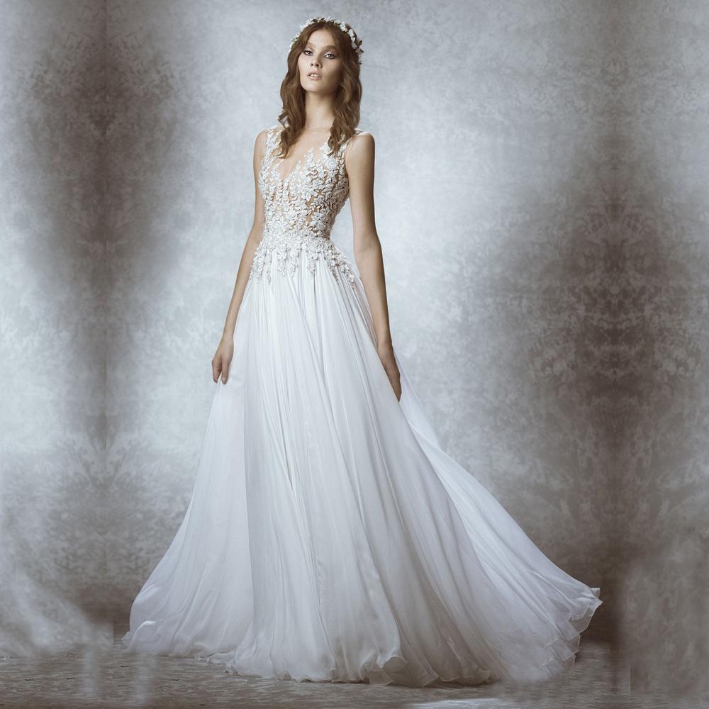 Cheap White Beach Wedding Dress Lace Indian Women Boho Robe de mariee ...