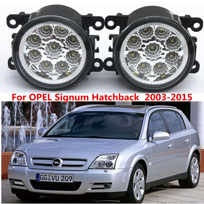 OPEL Signum Hatchback 2003-2015 Car styling front bumper LED fog Lights high brightness lamps 1set - Shenzhen Rand Automotive accessories trading company Store store