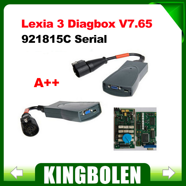 A+Quality with Good Board Lexia3 Full Set Serial 921815C Diagbox V7.65 Lexia 3 PP2000 for Citroen Peugeot Diagnostic Tool(China (Mainland))