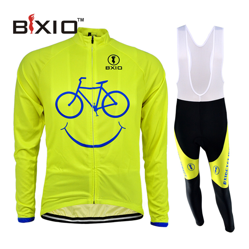 BXIO Long Sleeve Cycling Jersey Ropa De Ciclismo Spring Pro Raiders Bike Jersey equipacion ciclismo 2016 Riding Clothing Set 085(China (Mainland))