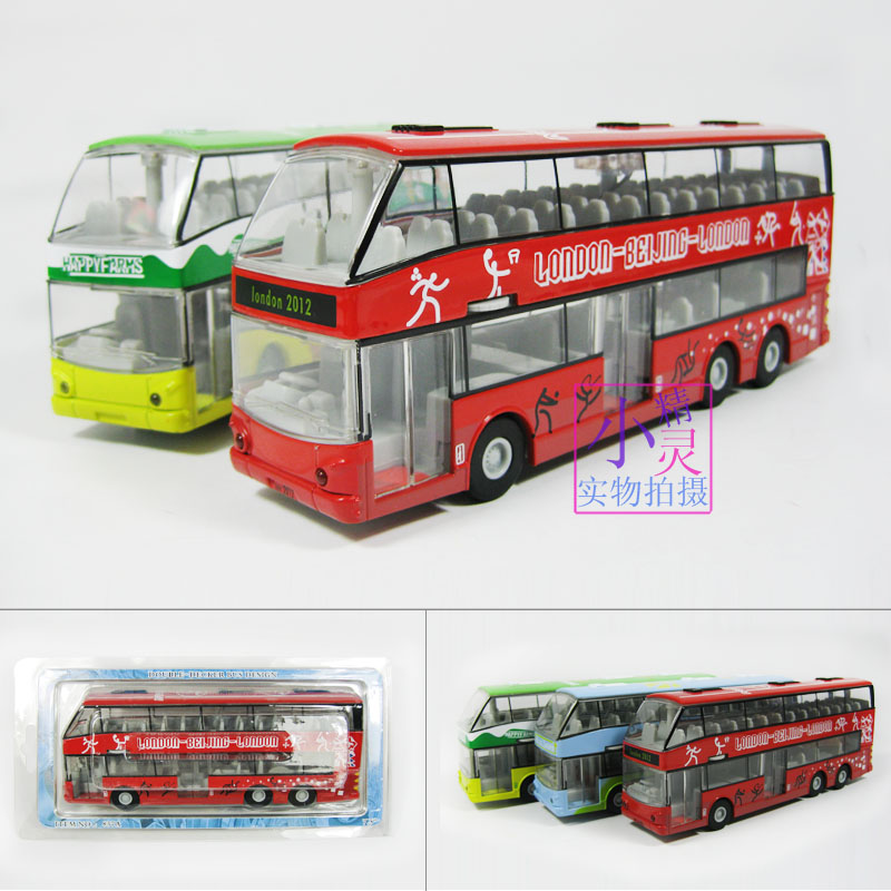 Double layer bus car model double layer bus toy in plain WARRIOR car toy more pcs more discount free ship dropshipping