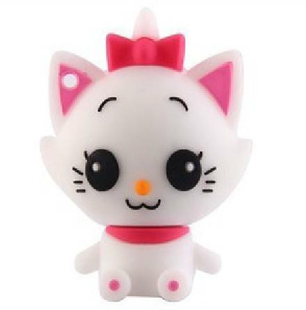 100% Ture Capacity So Cute Cartoon Cat USB Flash drive 4GB 8GB 16GB 32GB Free Shipping