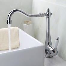 Buy Yanksmart Kitchen Torneira Swivel Chrome Spout+Ceramic Handle +Cover Plate +Hose 84855724 Sink Water Tap Vessel Faucet,Mixer Tap for $38.47 in AliExpress store