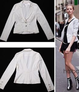 New 2013 Fashion Tops Designer Brand Jeans Denim Suits For Women Short Slim White Women Jackets And Blazers Plus Size XS-XXXL