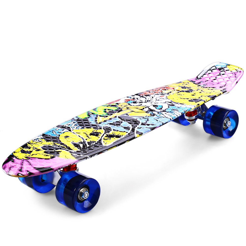 High Quality CL - 85 Printing Street Graffiti Style Skateboard Complete 22 inch Retro Cruiser Longboard For Child(China (Mainland))