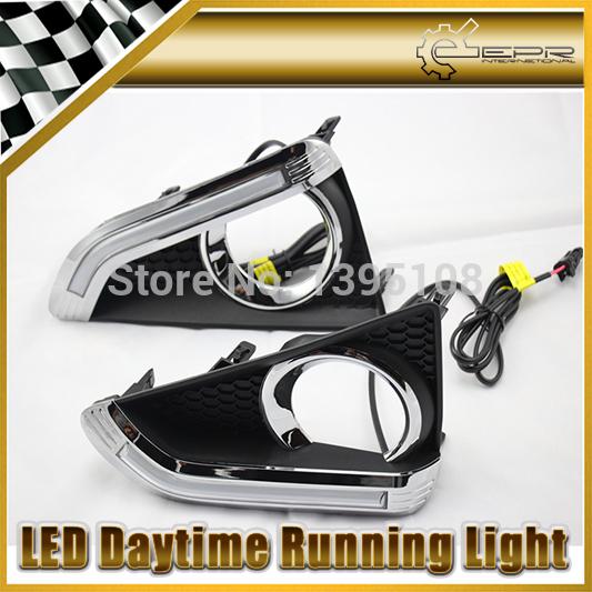 Фотография New Car Styling Auto Lamp For Toyota Reiz Guide Light 2014 LED Daytime Running Light DRL