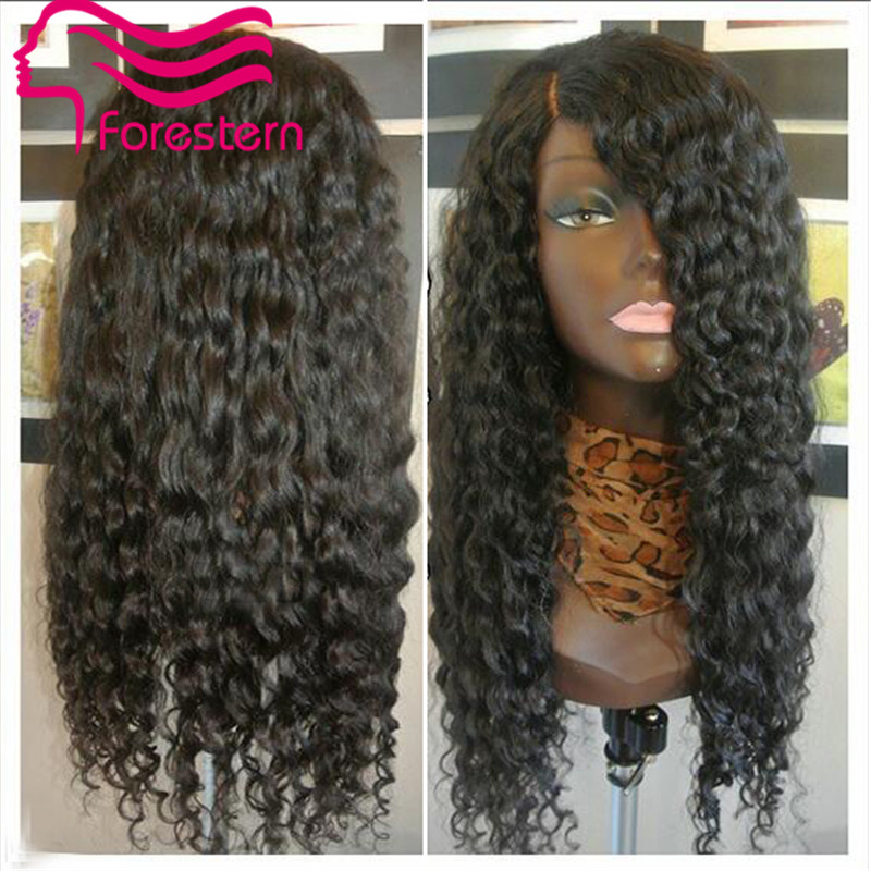 Deep Curl Full Lace Wig Remy Indian Hair Glueless Full