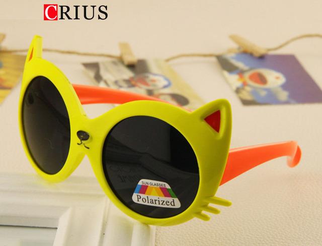 D 2016 новый милый ребенок цвет cat солнцезащитные очки дети высокое качество детские мультики поляризованных солнцезащитных очков дети бренд Экспорта европа