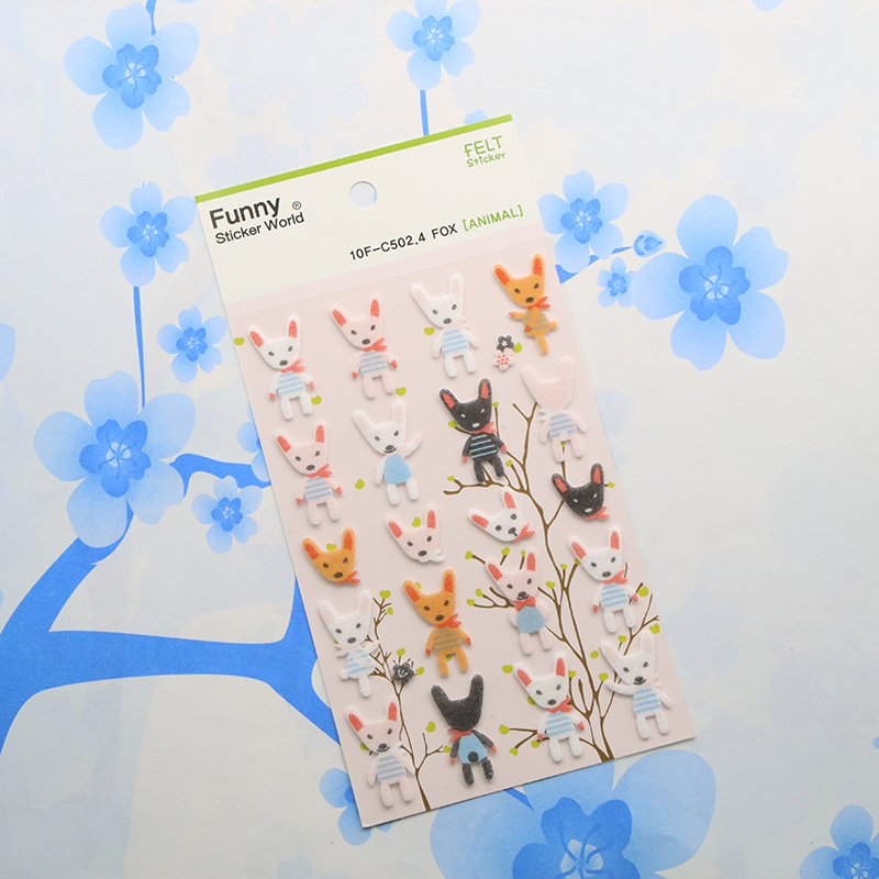 1 Pc / Pack Korea Sent Straight Three-dimensional Blankets Decorative Funny Stickers Funny Little Fox<br><br>Aliexpress