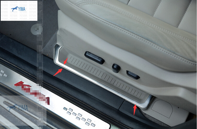 New For Ford Kuga / Escape 2013 - 2015 stainless steel Seat SIde Storage Pallet Container Cover Trim Sequin<br><br>Aliexpress