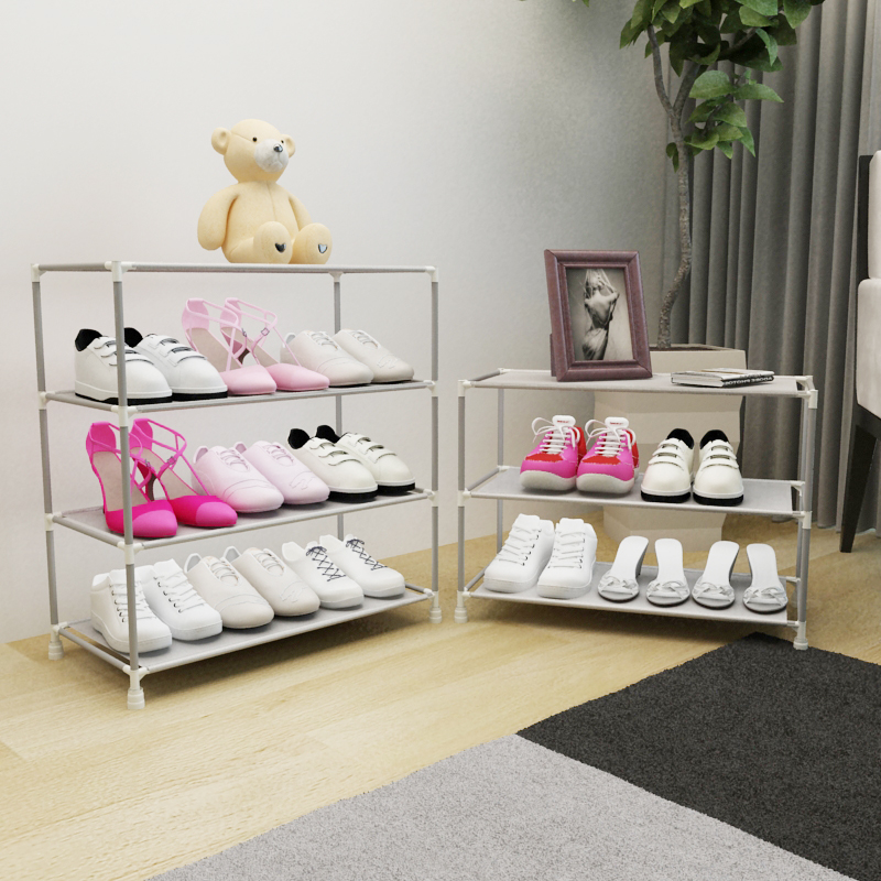 Simple dormitory hall shoe rack multilayer thick dust cloth shoes small assembly Specials<br><br>Aliexpress