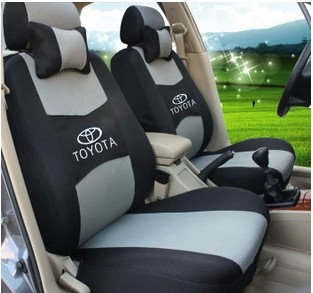 Car Covers Universal Seat Cover For TOYOTA Corolla Camry Rav4 Vitz Auris Prius Yaris Avensis With 3D Meterial+Logo+Free Shipping(China (Mainland))