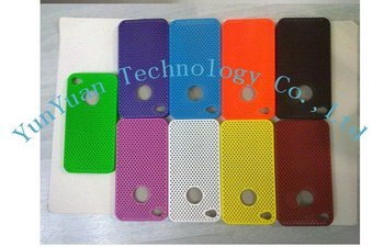 Free shipping Wholesale, 100pcs/lot Mesh Net Flexible Case for iPhone 4G